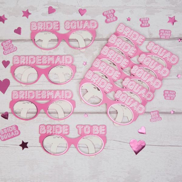 Bride Squad Hen Party Paper Glasses (9)